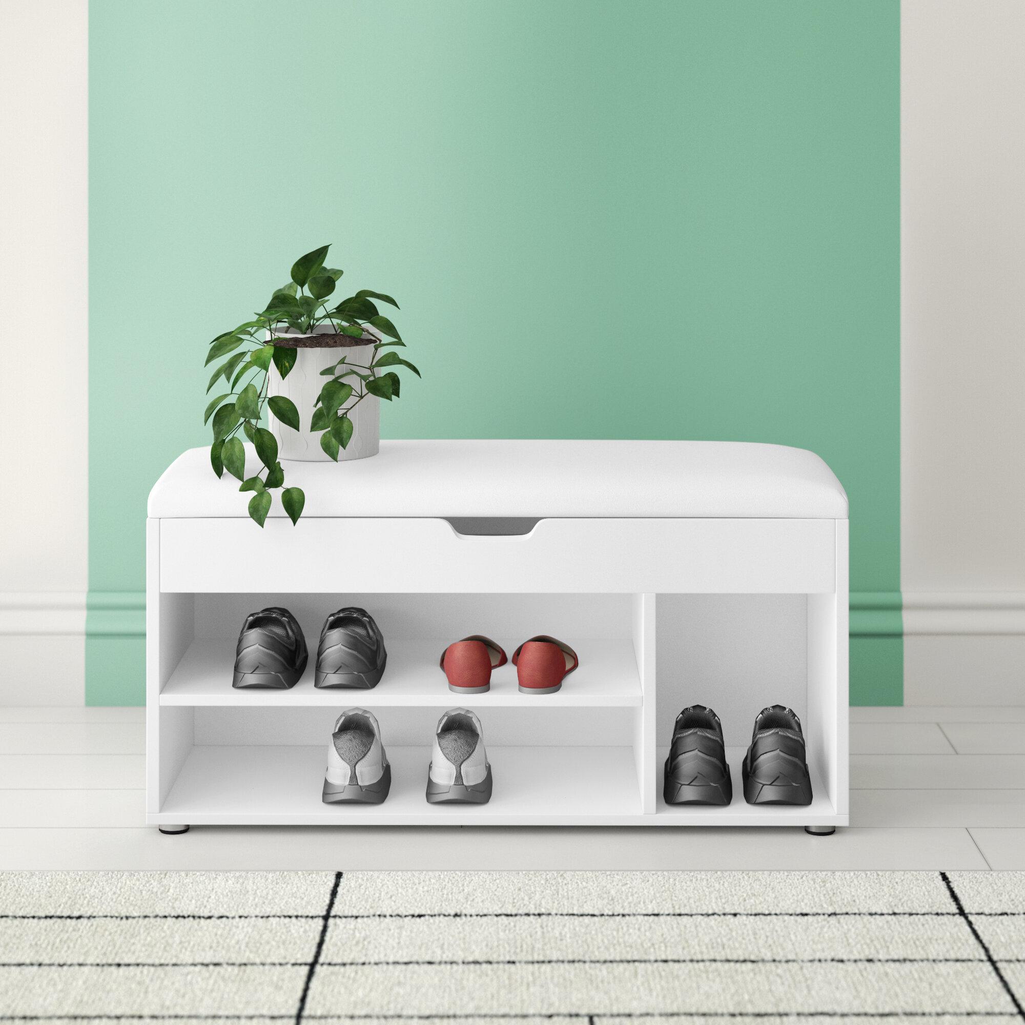 Hashtag Home Entryway 8 Pair Shoe Storage Bench Reviews Wayfair Co Uk