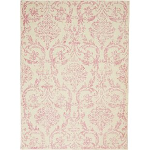 Wendy Abstract Ivory/Pink Area Rug by Ophelia & Co.