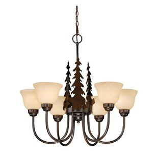 Loon Peak Jensen 6-Light Shaded Chandelier