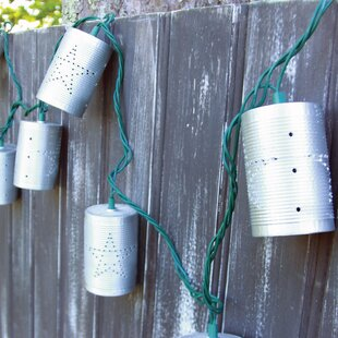 10-Light 7.5 ft. Tin Can String Lights By DEI Outdoor Lighting