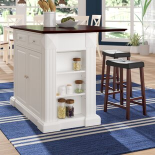 kitchen island with 2 stools wayfair