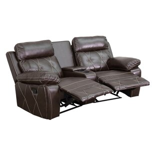 2 Seat Reclining Home Leather Theater Sofa by Latitude Run