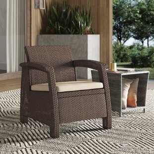 Remarkable Berard All Weather Outdoor Patio Chair With Cushion Machost Co Dining Chair Design Ideas Machostcouk