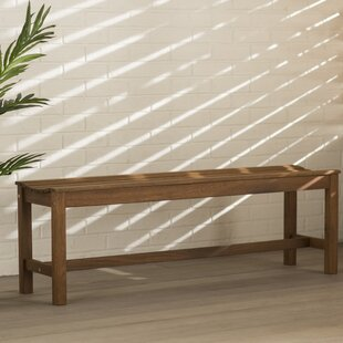Beachcrest Home Tovar Solid Wood Picnic Bench