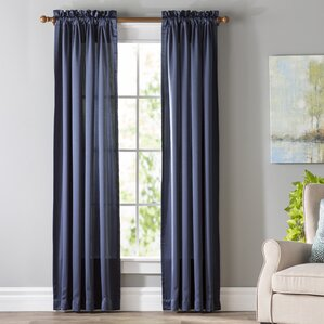 long curtains for living room. Wayfair Basics Solid Room Darkening Rod Pocket Single Curtain Panel 51  60 Width 84 94 Length Curtains Drapes You ll Love