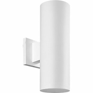 Everts Incandescent Plastic Cylinder 2-Light Outdoor Sconce
