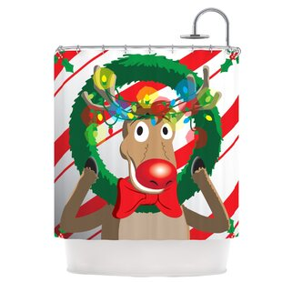 Reindeer Seasonal Shower Curtain