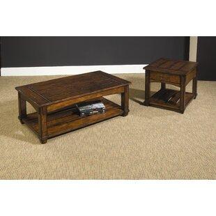 Loon Peak Fort Bragg 3 Piece Coffee Table Set