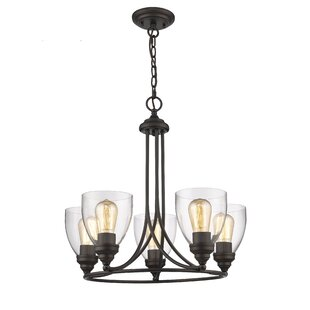Breakwater Bay Durst Transitional 5-Light Wagon Wheel Chandelier