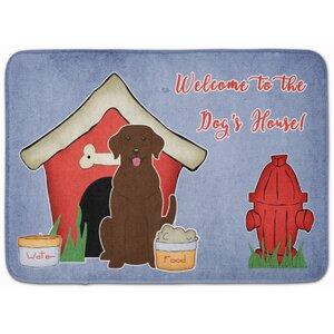 Dog House Labrador Memory Foam Bath Rug