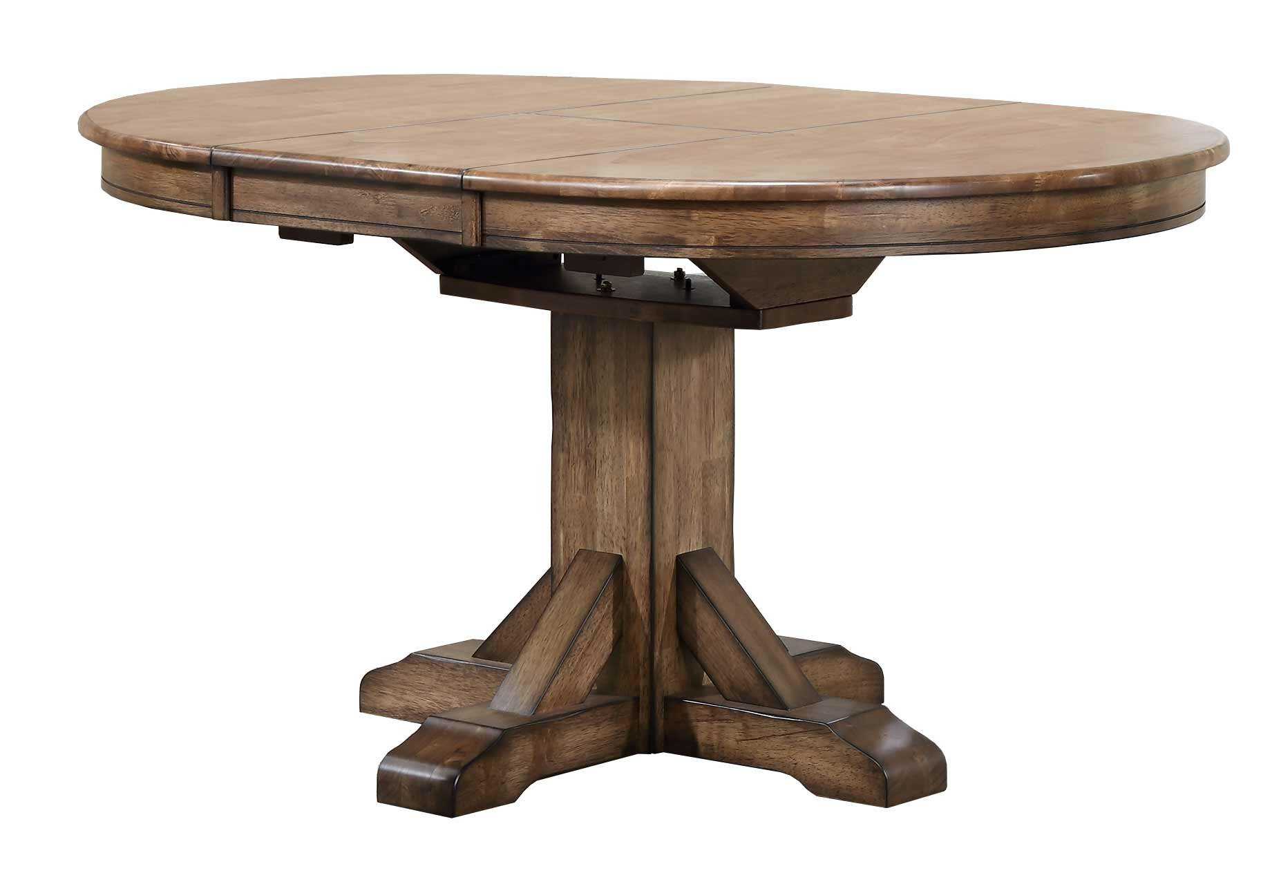 Rosecliff Heights Rutledge Extendable Rubberwood Solid Wood Dining Table Reviews Wayfair Ca