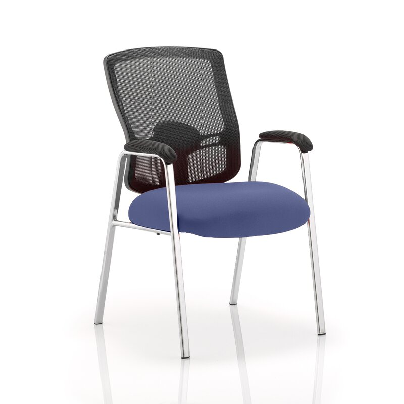 Symple Stuff Mid Back Office Chair With Arms Wayfair Co Uk