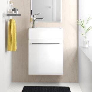 Merton 17 Wall-Mounted Single Bathroom Vanity Set by Zipcode Design