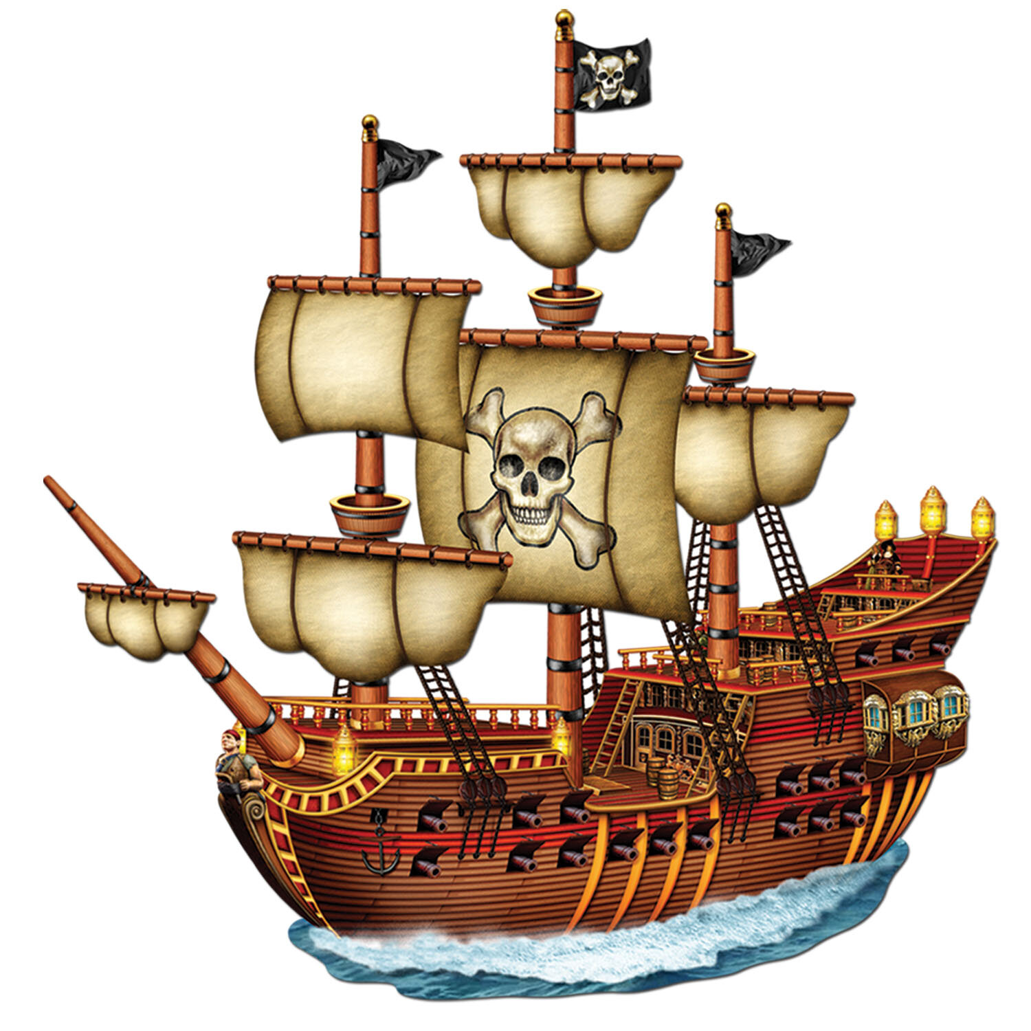 The Beistle Company Jointed Pirate Ship Wall Dcor Wayfair