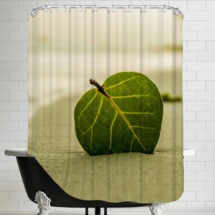 Beach Style With Leaf Single Shower Curtain