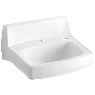 Greenwich Ceramic 21 Wall Mount Bathroom Sink Kohler