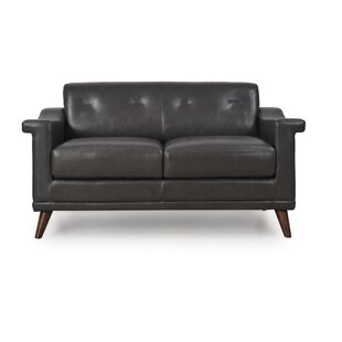 Brayden Studio Lapierre Leather Loveseat