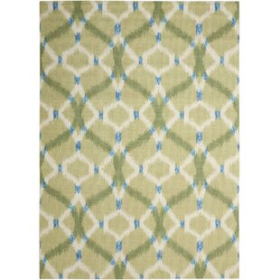 Sun N Shade Izmir Ikat Avocado Indoor Outdoor Area Rug By Waverly