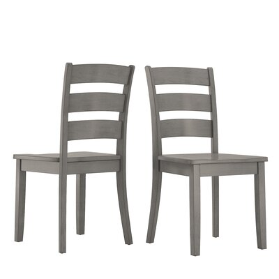 Alverson Solid Wood Dining Chair Color: Antique Gray by August Grove