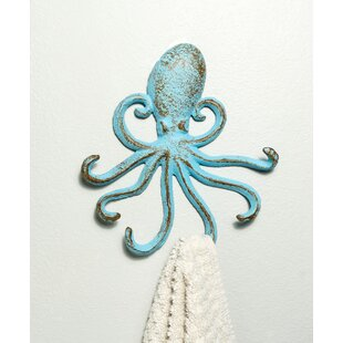 Cast Iron Octopus Decorative Wall Hook