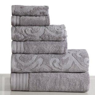 Harley 6 Piece 100% Cotton Bath Towel Set (Set of 6)