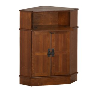 Whitaker 2 Door Corner Cabinet by Charlton Home