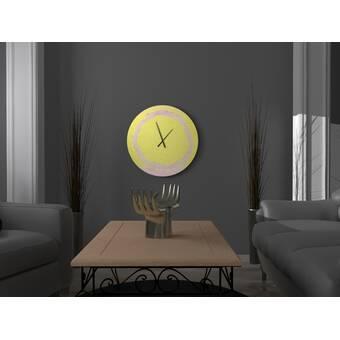 East Urban Home Oversized Pimentel Wall Clock Wayfair