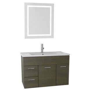 Loren 33 Single Bathroom Vanity Set with Mirror by Nameeks Vanities