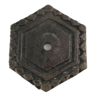 Antique Octagon Knob Backplate