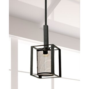 Finn 1-Light Square/Rectangle Pendant by Springdale Lighting