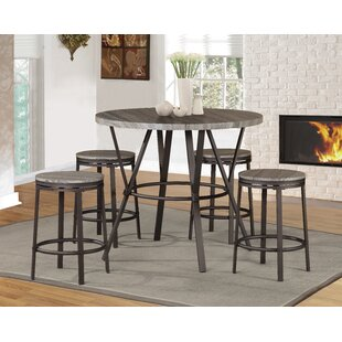 Kinsey 5 Piece Pub Table Set by Williston Forge