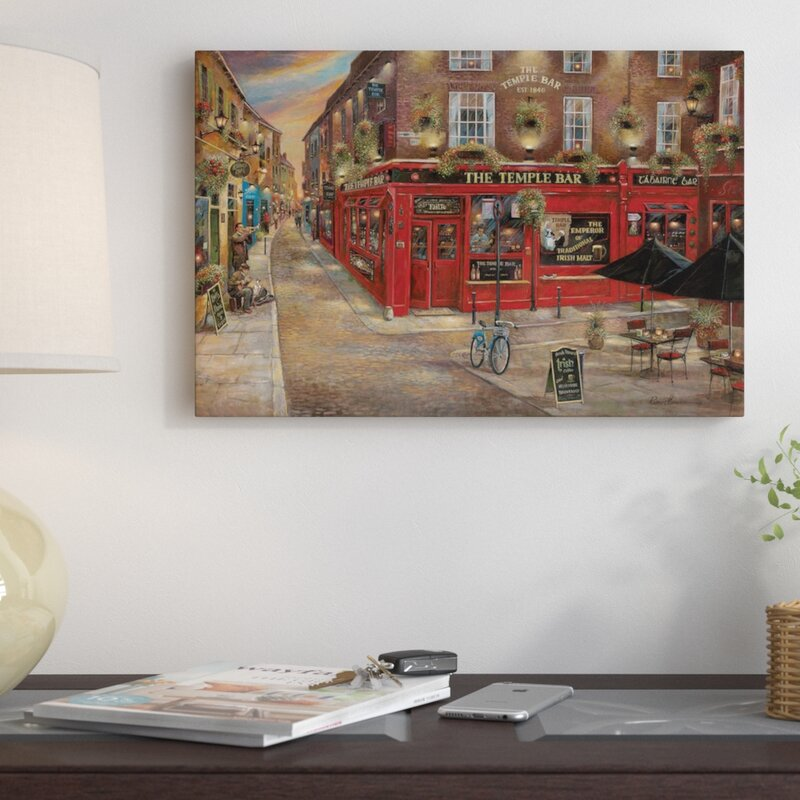'The Temple Bar' Painting Print on Canvas