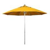 Lorilee Silver Anodized 9 Market Umbrella