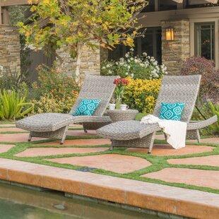 Fawnia 3 Piece Chaise Lounge Set