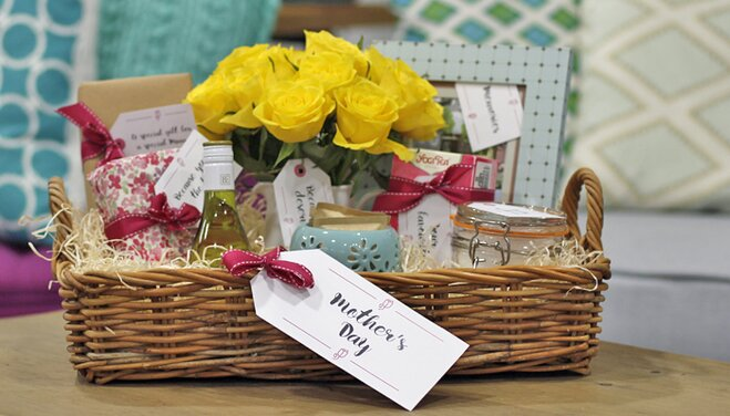 Diy hampers mothers day gift tags wayfair spoil your mother with this gorgeous mothers day diy hamper solutioingenieria Choice Image