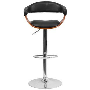 Alfred Adjustable Height Swivel Bar Stool George Oliver