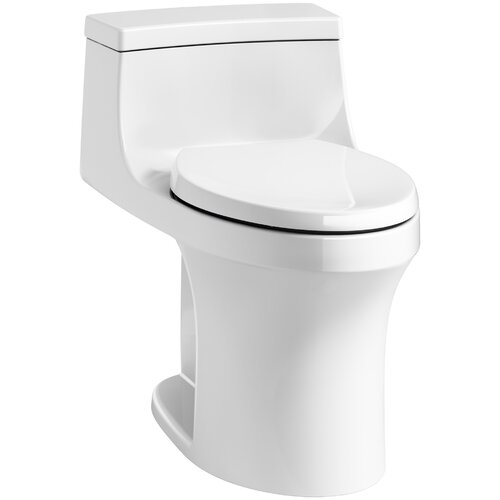 K-4007-0,7,G9 Kohler San Souci 1 Piece Round-Front 1.28 GPF Toilet with  Aquapiston Flushing Technology & Reviews | Wayfair