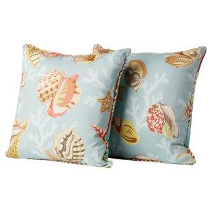 Sylvie Sea Glass Cotton Throw Pillow (Set of 2)