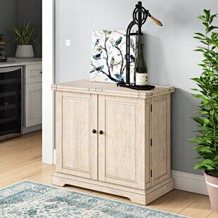 Three Posts Rheingold Bar Cabinet with Wine Storage