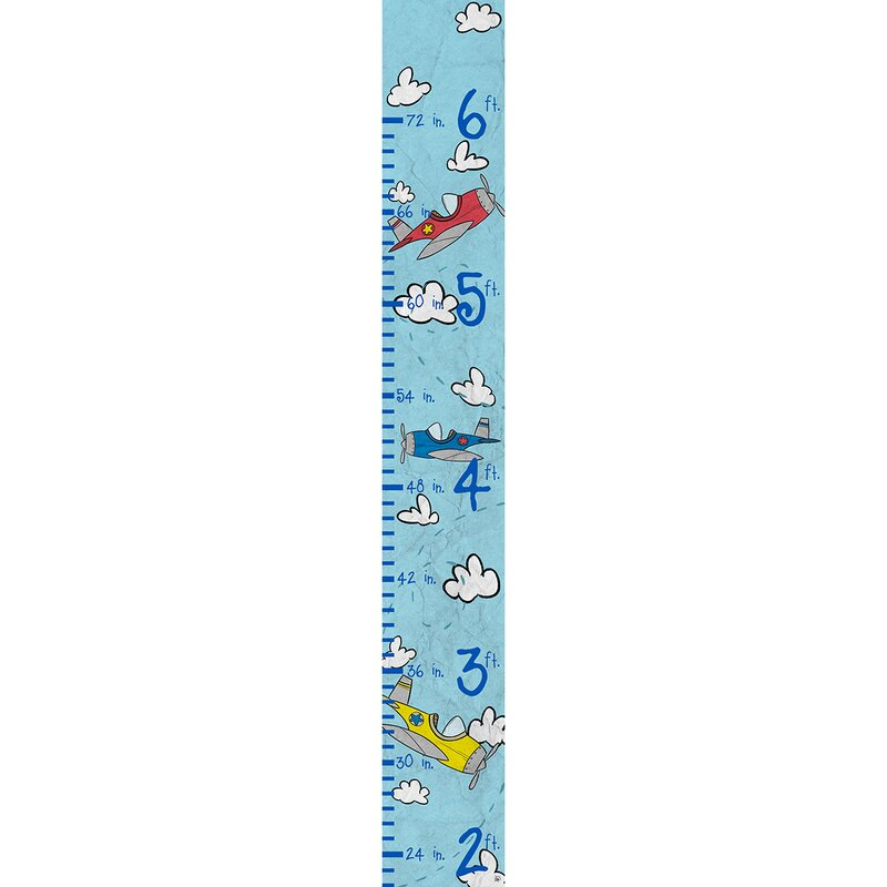 Harriet Bee Atchley Child Soaring Airplanes Personalized Growth Chart Wayfair