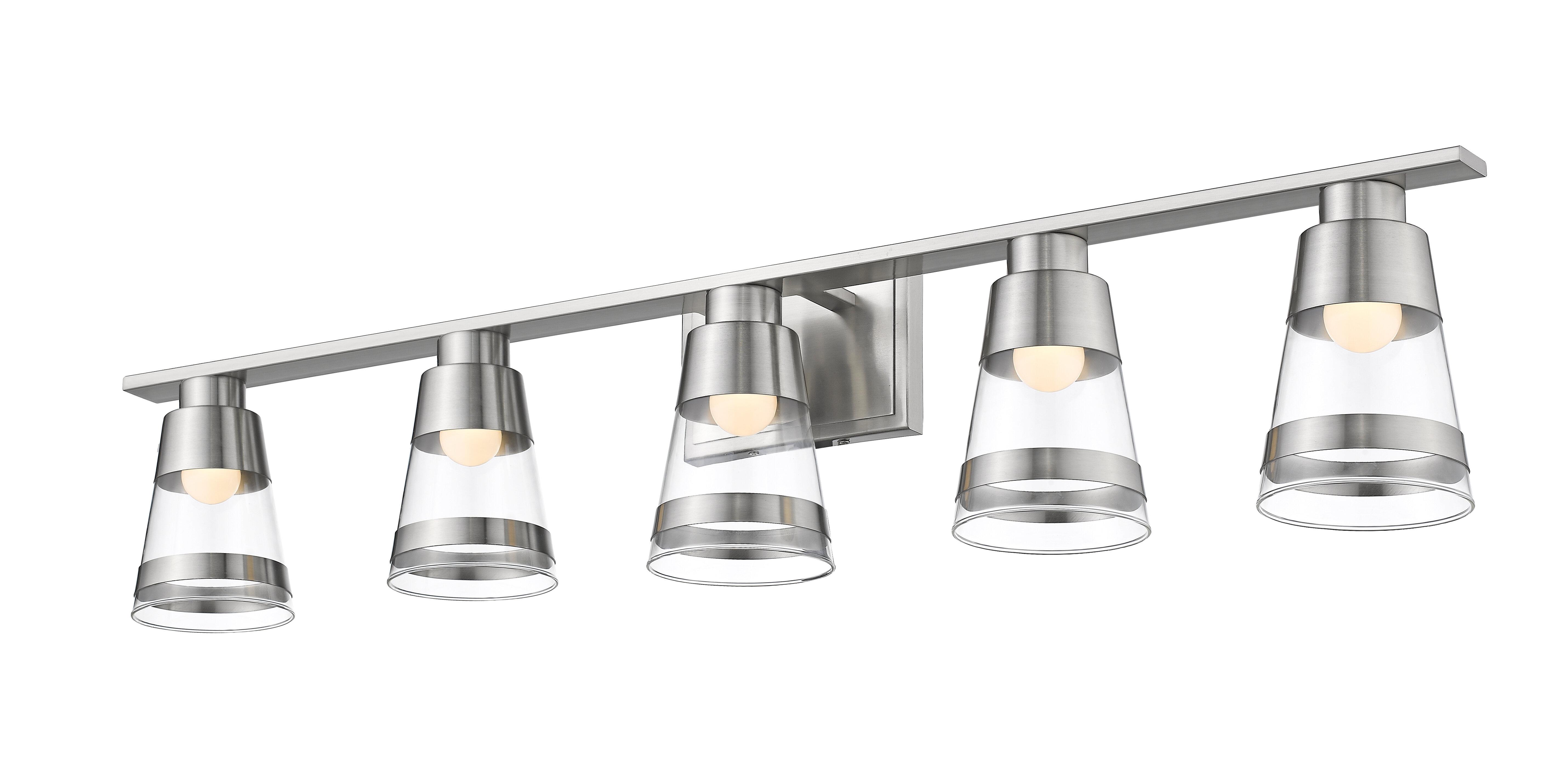 5 Light Breakwater Bay Bathroom Vanity Lighting You Ll Love In 2021 Wayfair