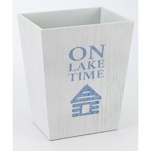 Avanti Linens Lake Words Waste Basket