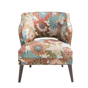 Delightful Nolan Floral Mod Side Chair
