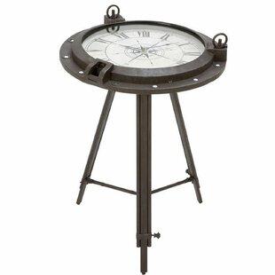 Colleen Industrial Metal Round Clock Coff..