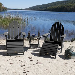Check Out Detrick Plastic Adirondack Chair with Ottoman (Set of 5) Purchase Online