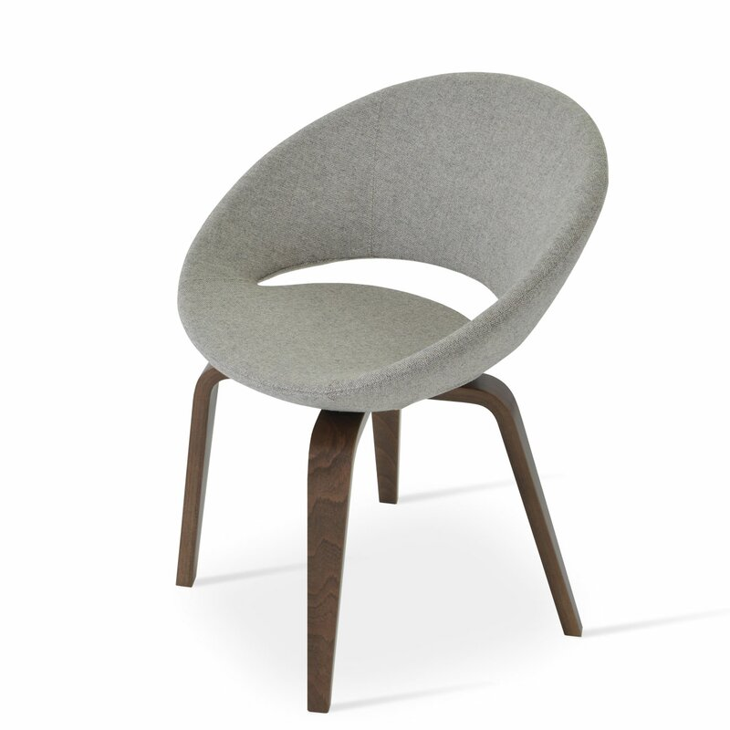 Sohoconcept Crescent Plywood 23 75 W Faux Leather Papasan Chair Wayfair