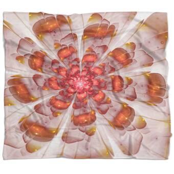 East Urban Home Flowerswork Chrysanthemum Flower Blanket Wayfair