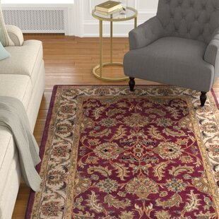 Find for Cranmore Red/Ivory Floral Area Rug By Charlton Home