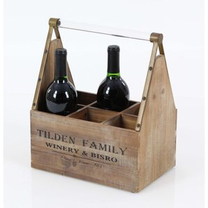 Ansara Wood 6 Bottle Tabletop Wine Bottle Rack by Fleur De Lis Living