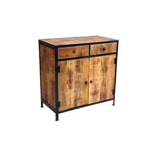 Dante Industrial Reclaimed Wood and Iron 2 Drawer Sideboard Accent Cabinet by Millwood Pines
